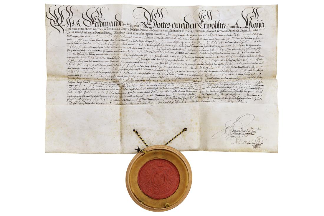 Schutzbrief von Kaiser Ferdinand III.