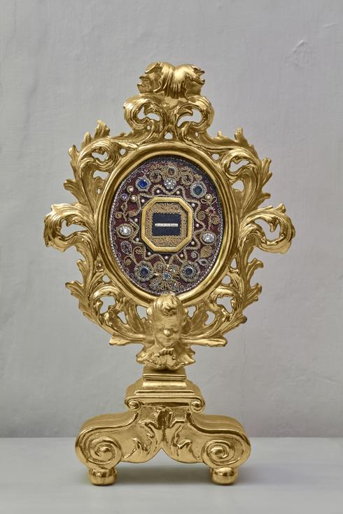 Reliquiar mit Schleier der hl. Teresa
