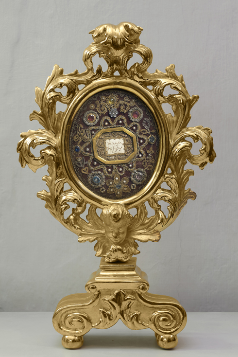 Reliquiar mit der Originalunterschrift der hl. Teresa