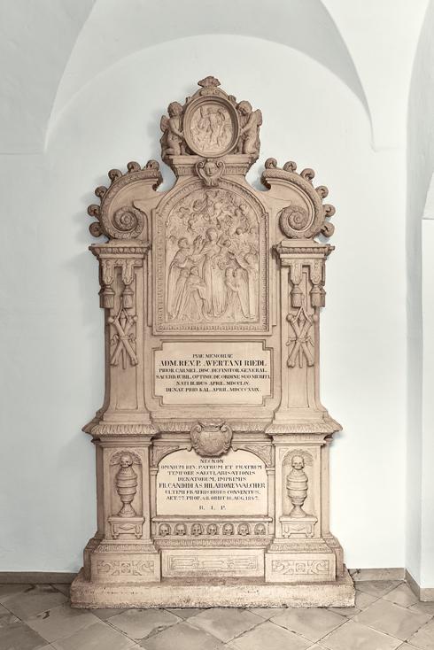 Gedenkstein der beiden Brüder, die während der Säkularisation die Geistfabrik weiterführten